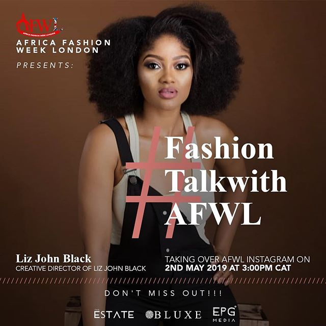 Let's Talk Fashion... Find out the latest trends, news and gossip in Fashion as we delve deep into African fashion around the world. Join the AFWL experts, enthusiasts and fashionistas as we interview the best and keep you one step ahead. #FashionTalksWithAFWL  Join us on Fashion Talk with AFWL - produced by EPG Media 📢📣Registration for Africa Fashion Week London 2019 is still ON❗️Click link in bio to Register❗️ _________________________________________________  #afwl #africanwear #collection #fashion #inspo #design #fashionweek #runway #uk #london #africa #africanfashion #models #womenswear #beautyinfocus #fashiondetails #trendy ————————————————————— @onlinefashiontv @shopsydoo @estatepropertyguide @bluxe_eu
