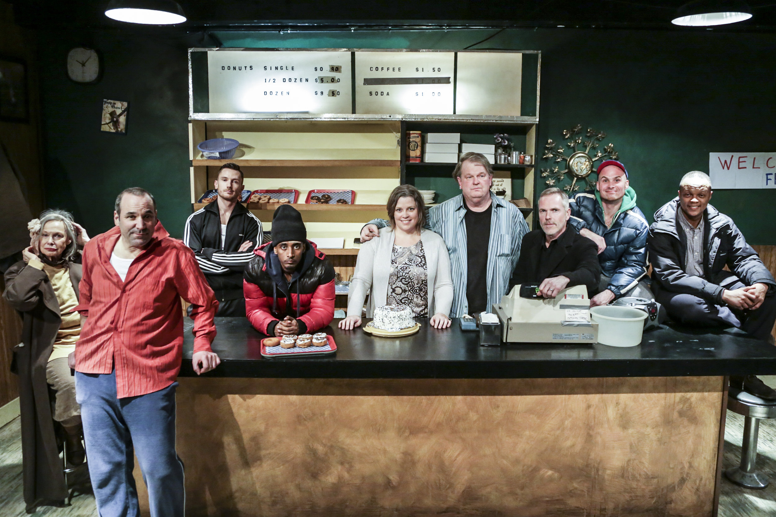 CAST of SUPERIOR DONUTS   Photo by Shaun Benson