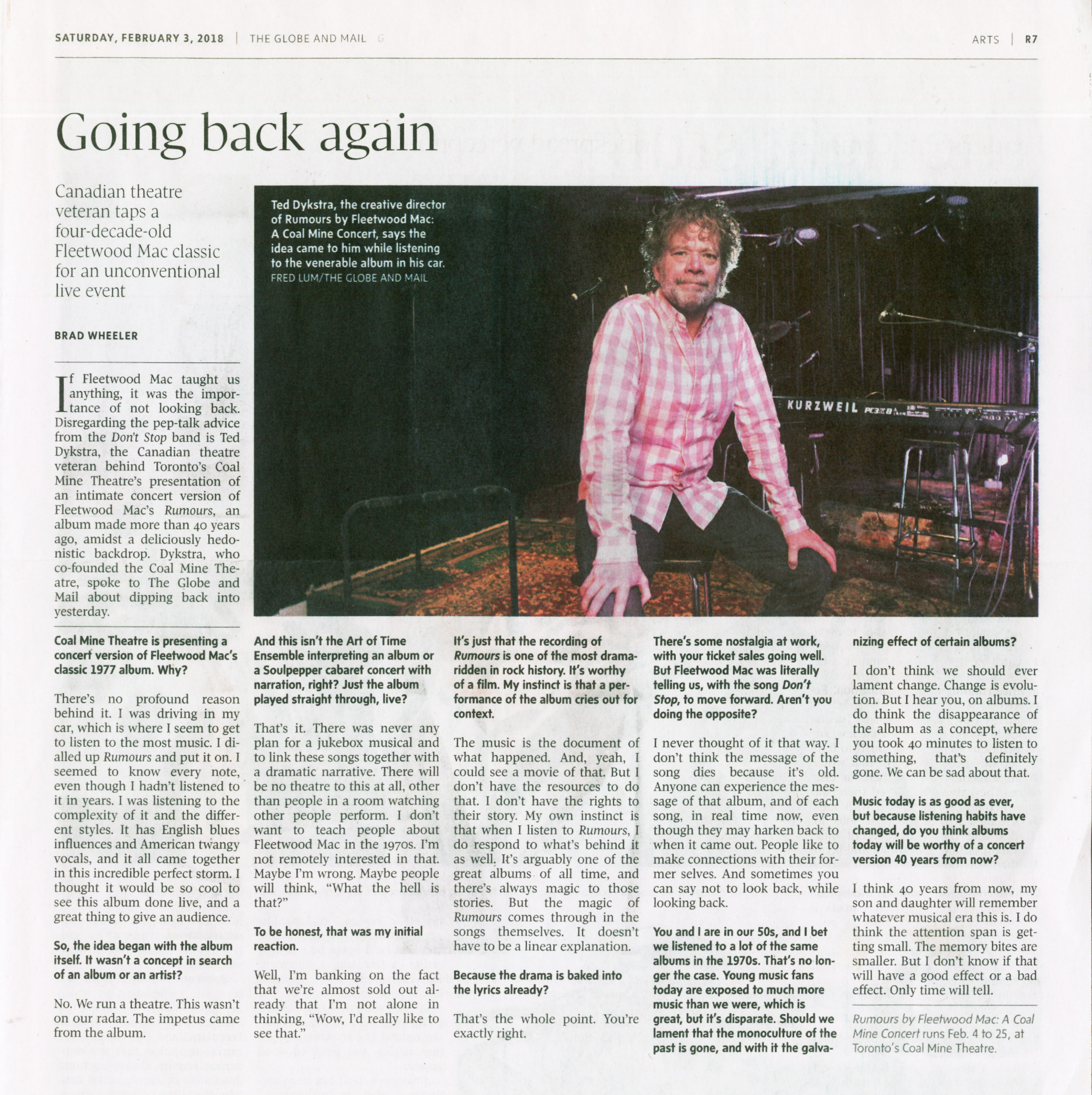 TED DYKSTRA   photo by FRED LUM/THE GLOBE AND MAIL