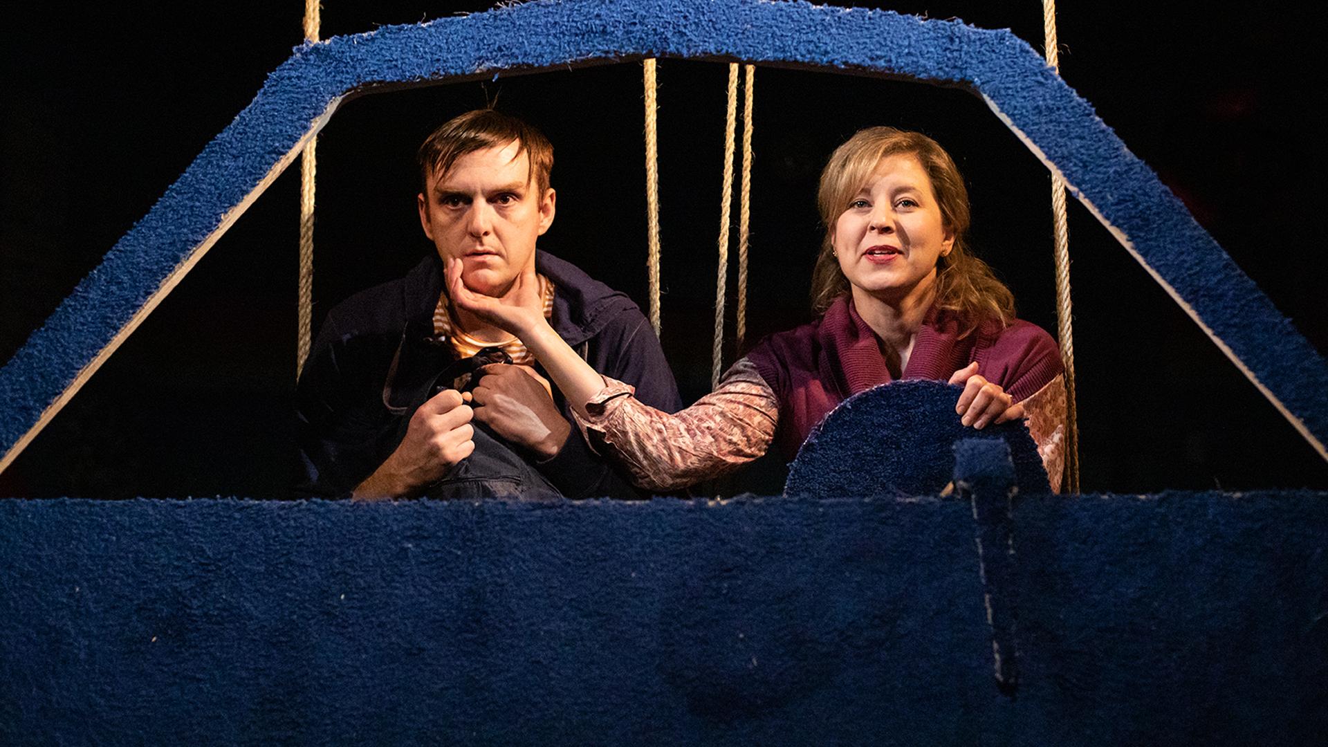 (L TO R) FRANK COX-O'CONNOR & NICOLE UNDERHAY. PHOTO BY KRISTINA RUDDICK.