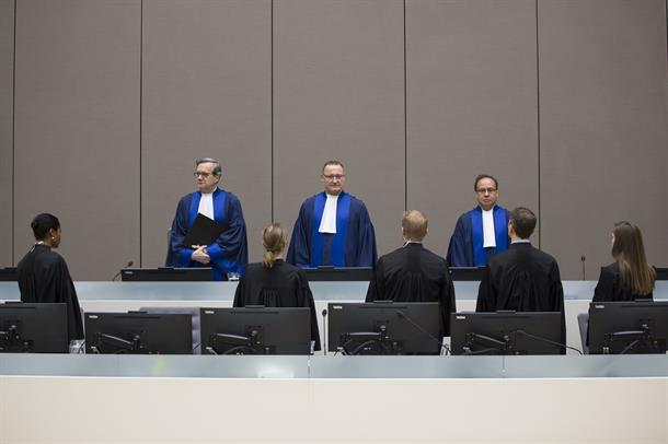 Judges of Trial Chamber VII delivering their decision on the sentencing in the Bemba et al. case during a public hearing held in ICC Courtroom 1 on 22 March 2017 © ICC-CPI