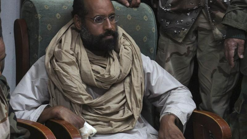Saif al-Islam Gaddafi in 2011, after his arrest warrant was filed.  Ammar El-Darwish/Reuters