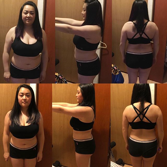 Lifestyle changes!  Kathleen didn't make major changes. We did focus on better food choices and was consistently going to the gym. Workout routine consisted of only lifting weights and building muscle.  You can see her body got a lot tighter by simple changes within her daily routine.