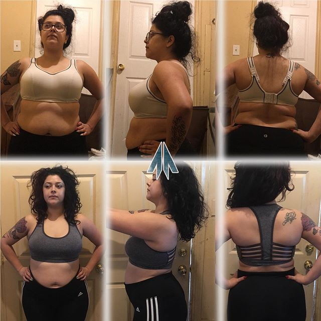 "@adripinky_ is one motivating person. She knows what determination and hard work is. She has a crazy schedule as a business owner and made sure to make her health and fitness a priority. This is her 8 week progress ✌🏼 - Below is her testimonial about the program! - ""I was skeptical was my work schedule and how I was going to change that. And luckily it worked out! The reason I loved about joining was I finally just went for it and stop putting excuses and held my self accountable about finally doing it. The outcome, a lot more energy, better posture when I stand at work all day, better sleep A LOT OF FAT LOSS!! I haven't lost a ton of weight but my stomach and face have definitely changed a lot!!! I take selfies and I am ok taking pictures now 😊"""