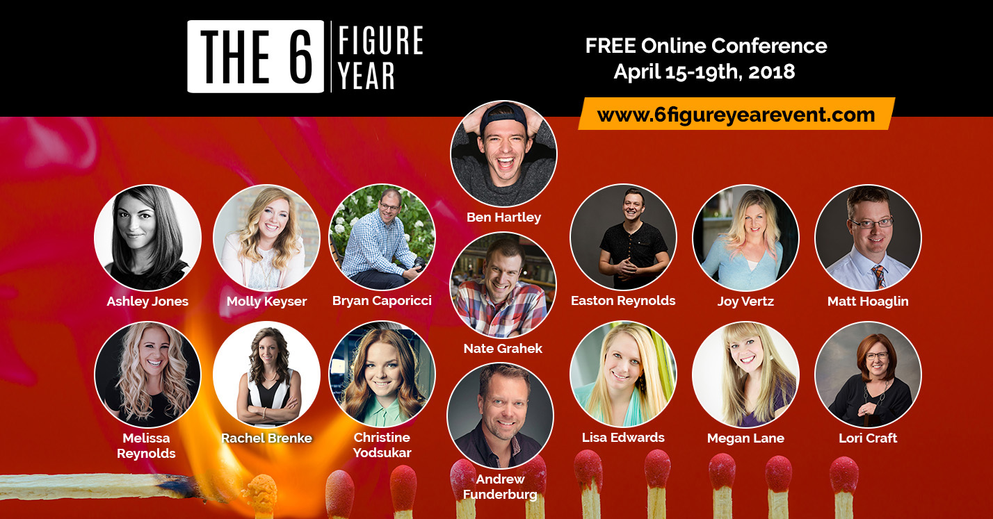 6 Figure Year Online Event for Photographers