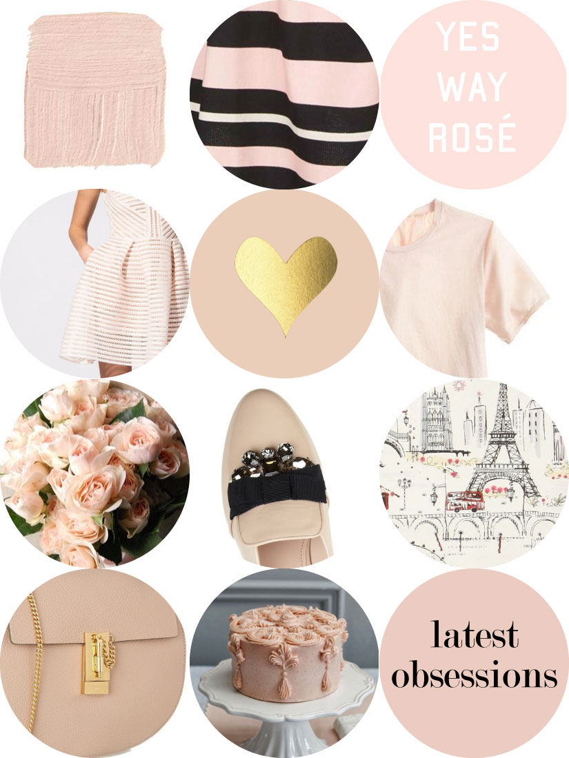 Latest Obsessions - This month, I'm all about blush pink - Maje dresses, David Austin roses and sparkly Miu Miu flats | Sundays and Somedays