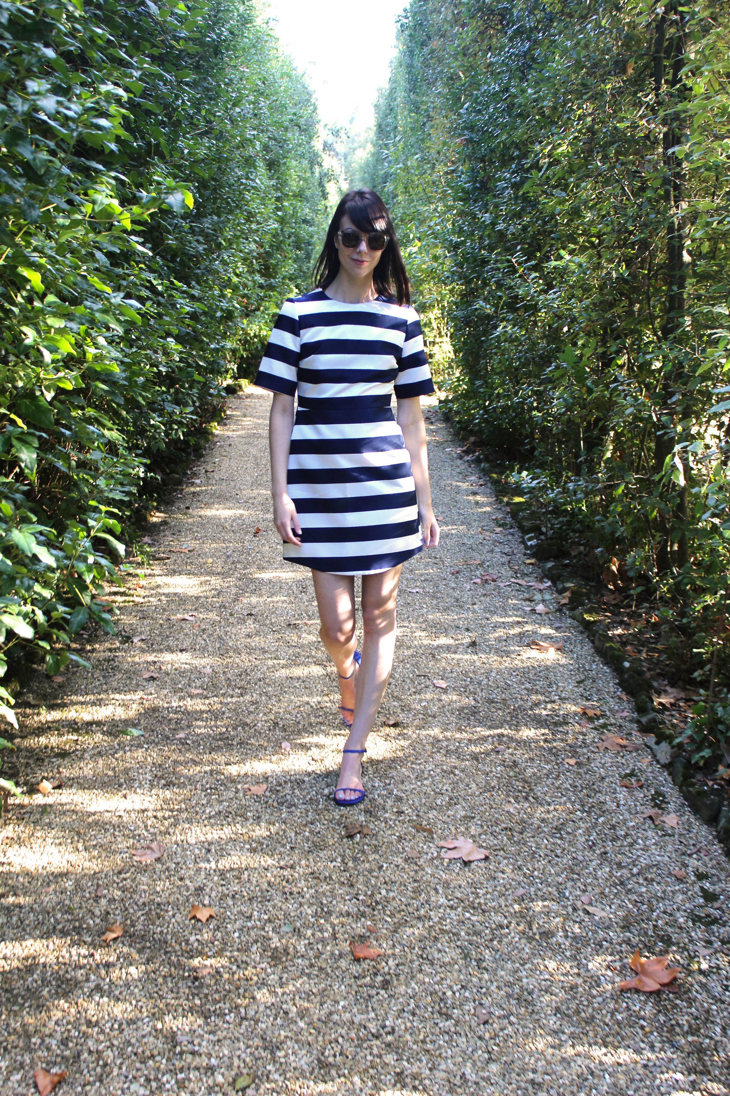 A walk through the hedges of Boboli Gardens.