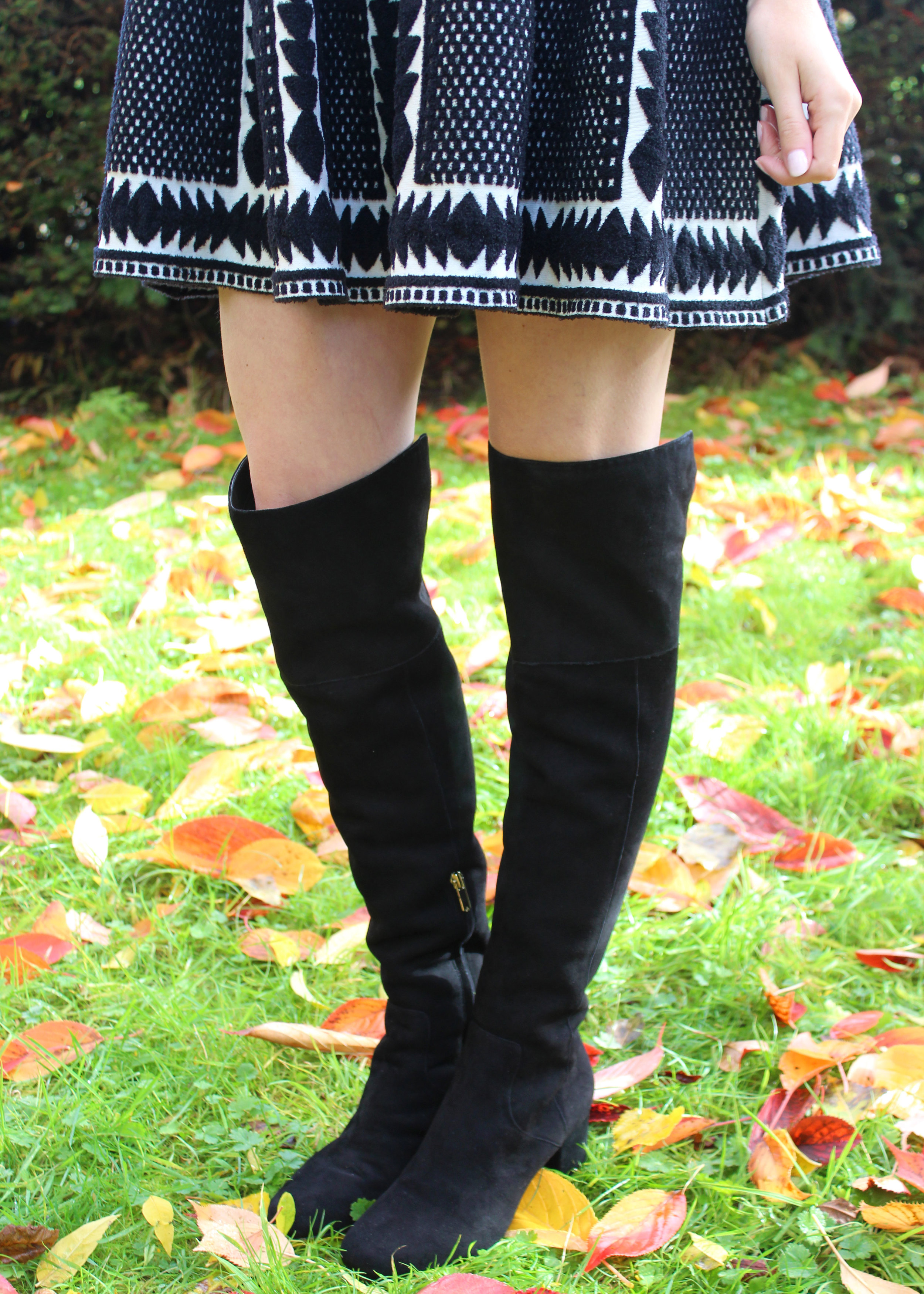 Sam Edelman over the knee boots in black suede.
