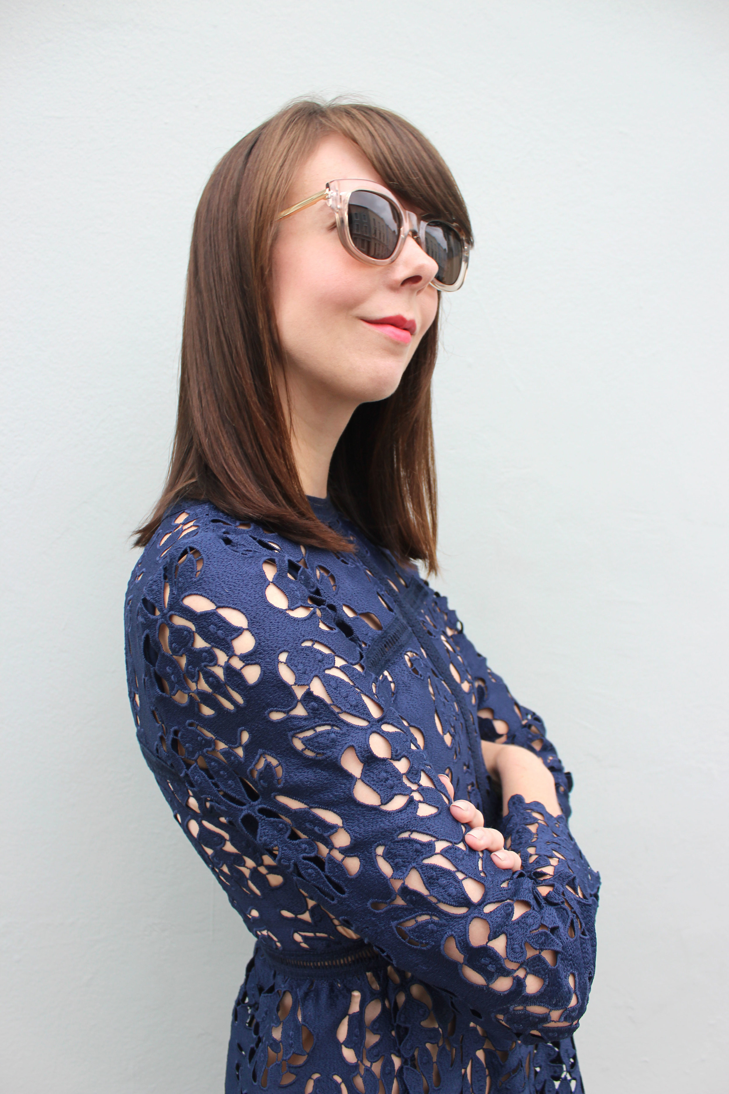Striking a pose in Le Specs sunnies.