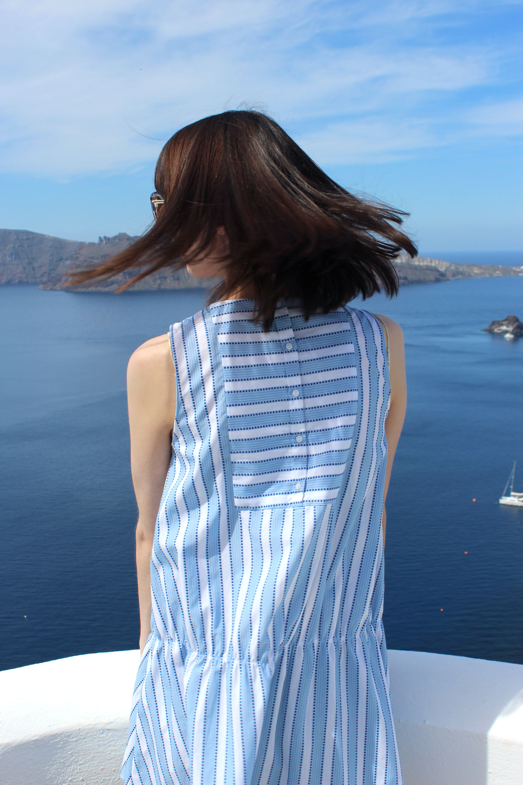 Recalling our stay at Ikies Hotel in Santorini, Greece