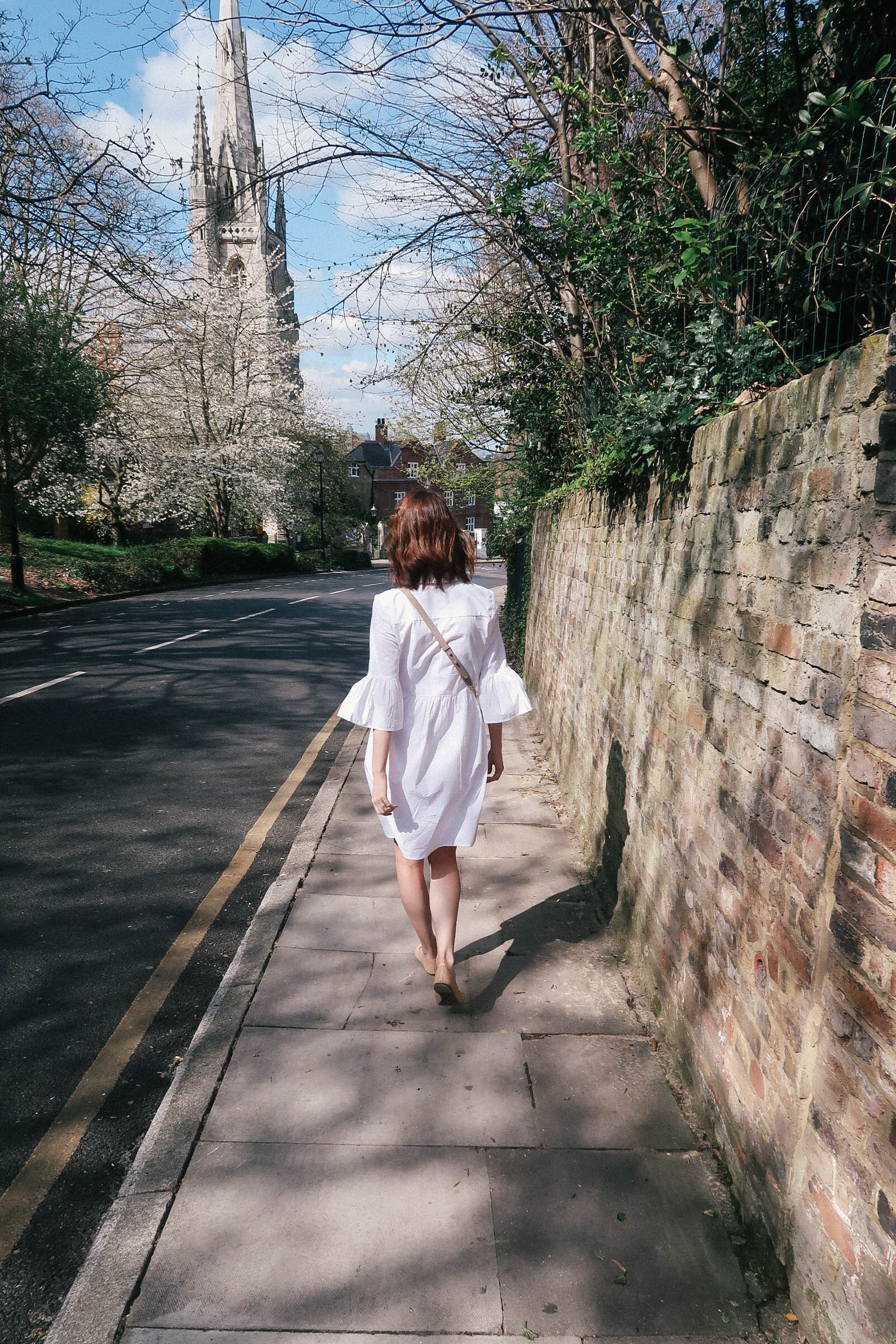 New Look bell sleeve cotton dress via ASOS | Greenwich Strolls | Sundays and Somedays