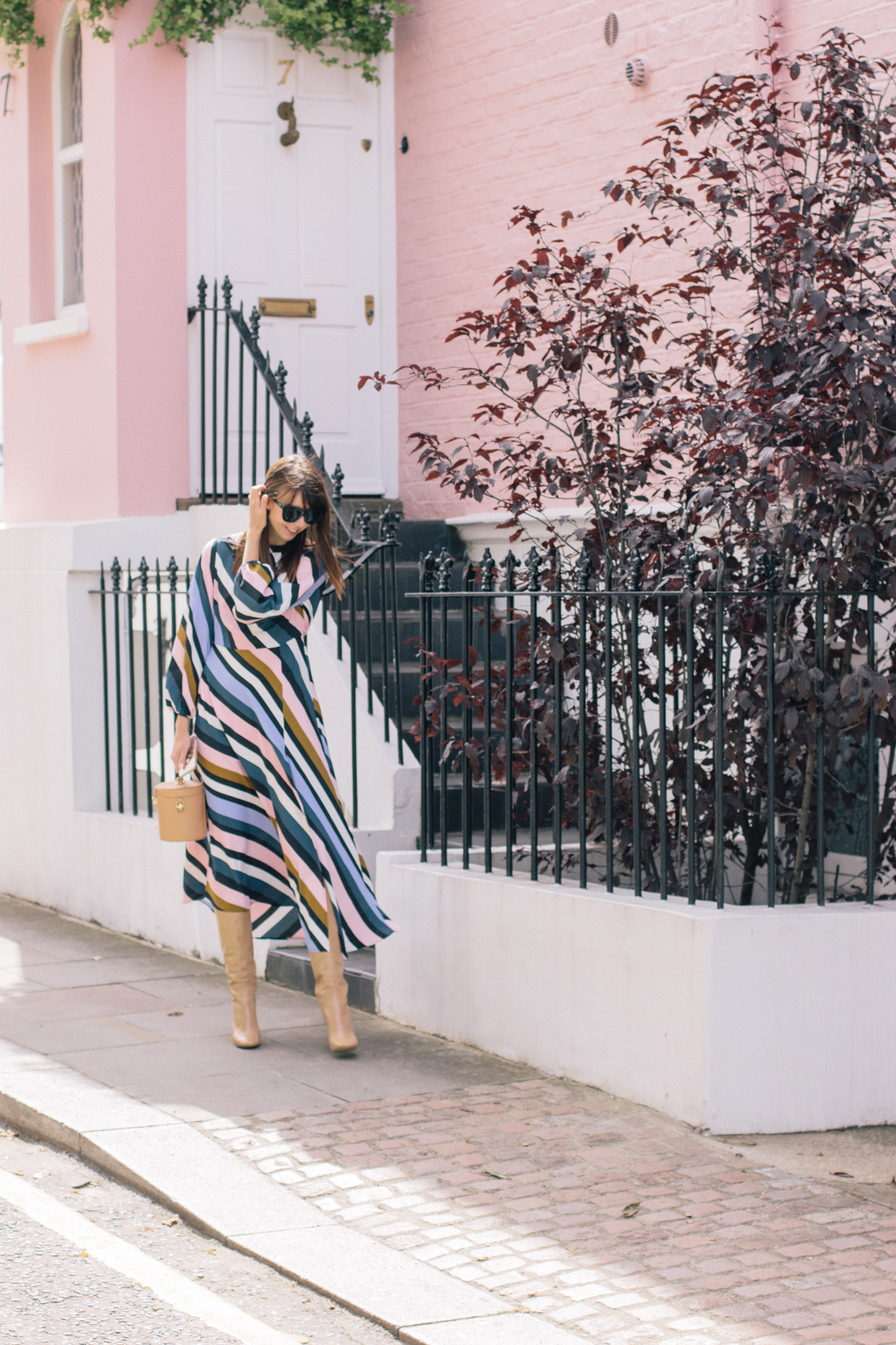 Striped Topshop Dress Pink House Notting Hill Gate-6.jpg