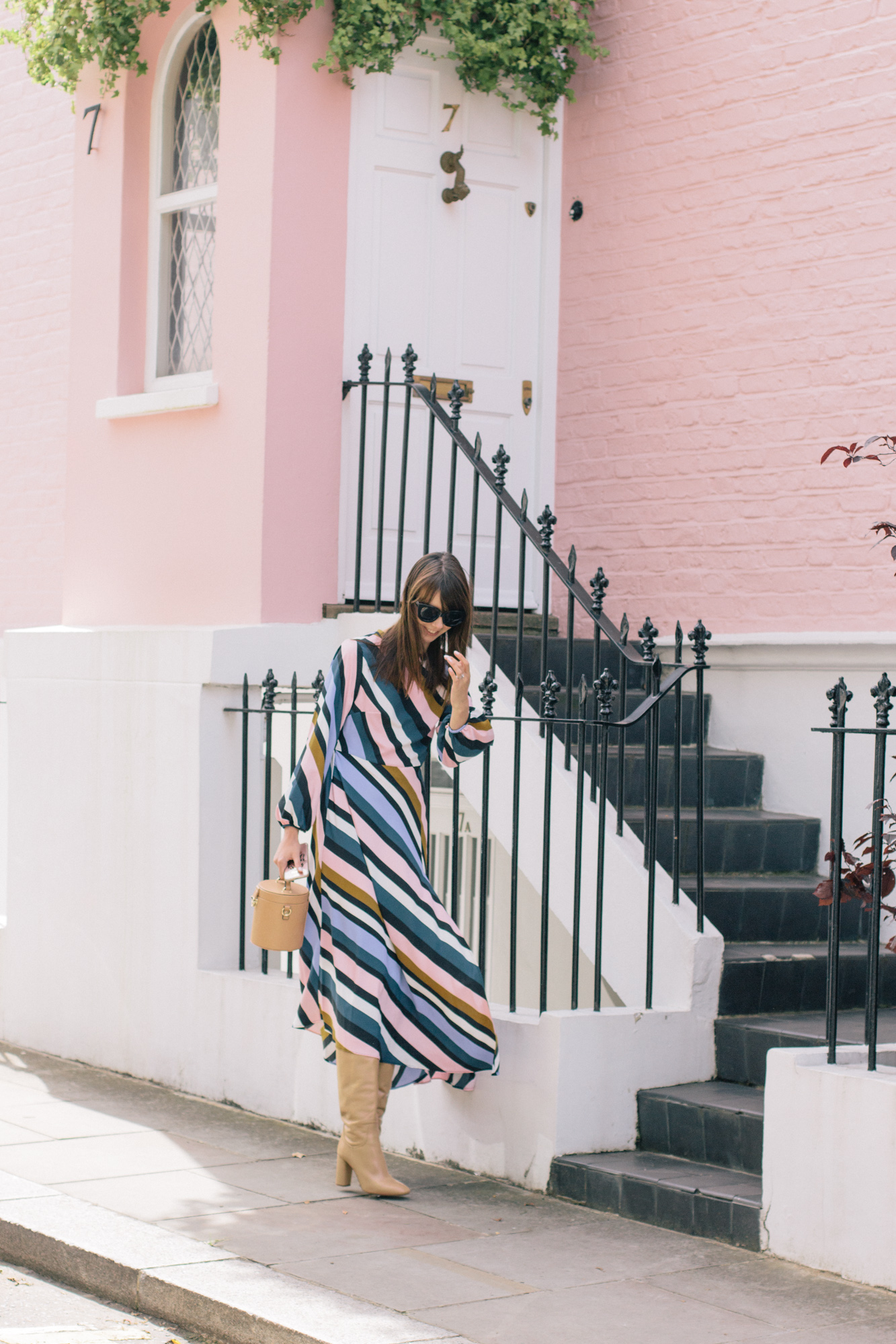 Striped Topshop Dress Pink House Notting Hill Gate-11.jpg