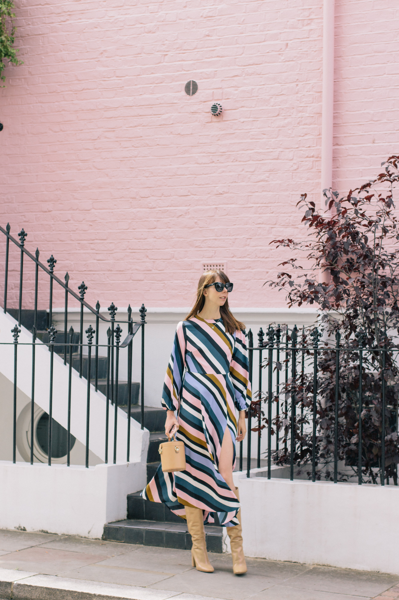 Striped Topshop Dress Pink House Notting Hill Gate-15.jpg