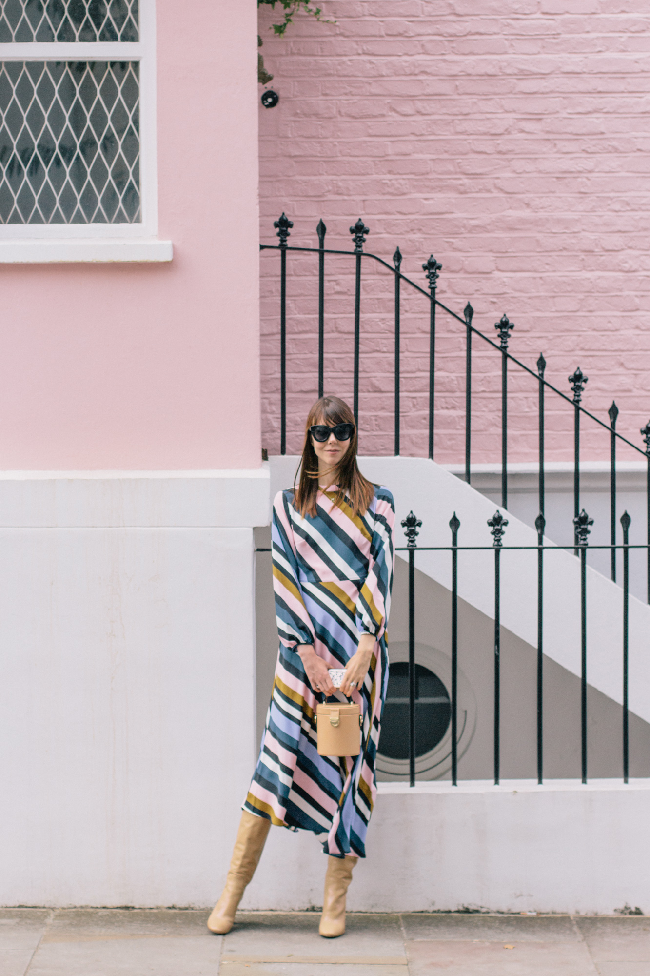 Striped Topshop Dress Pink House Notting Hill Gate-23.jpg