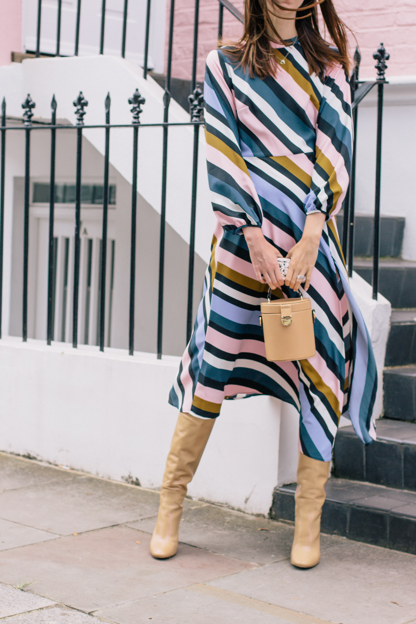 Striped Topshop Dress Pink House Notting Hill Gate-28.jpg