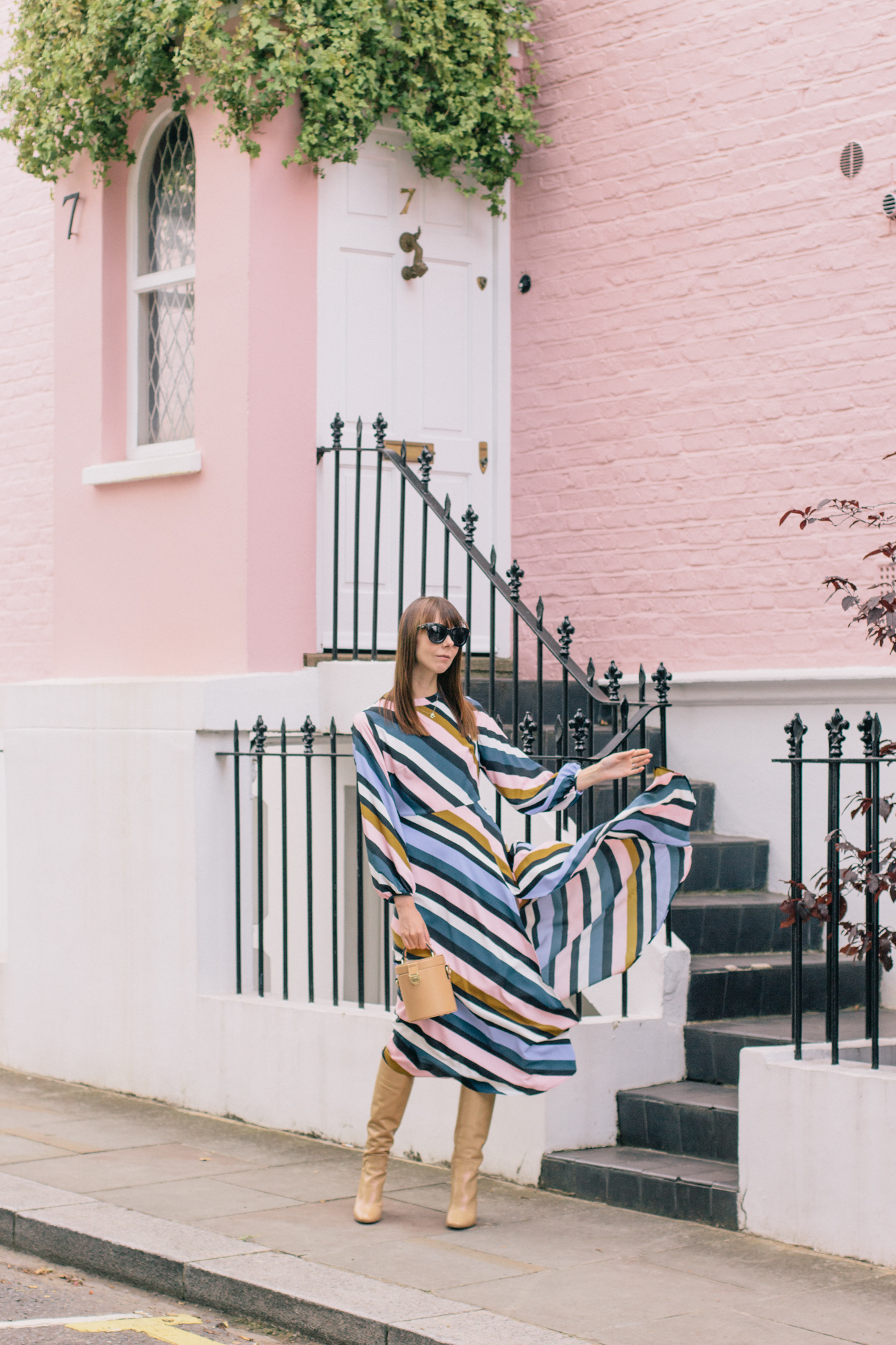 Striped Topshop Dress Pink House Notting Hill Gate-36.jpg