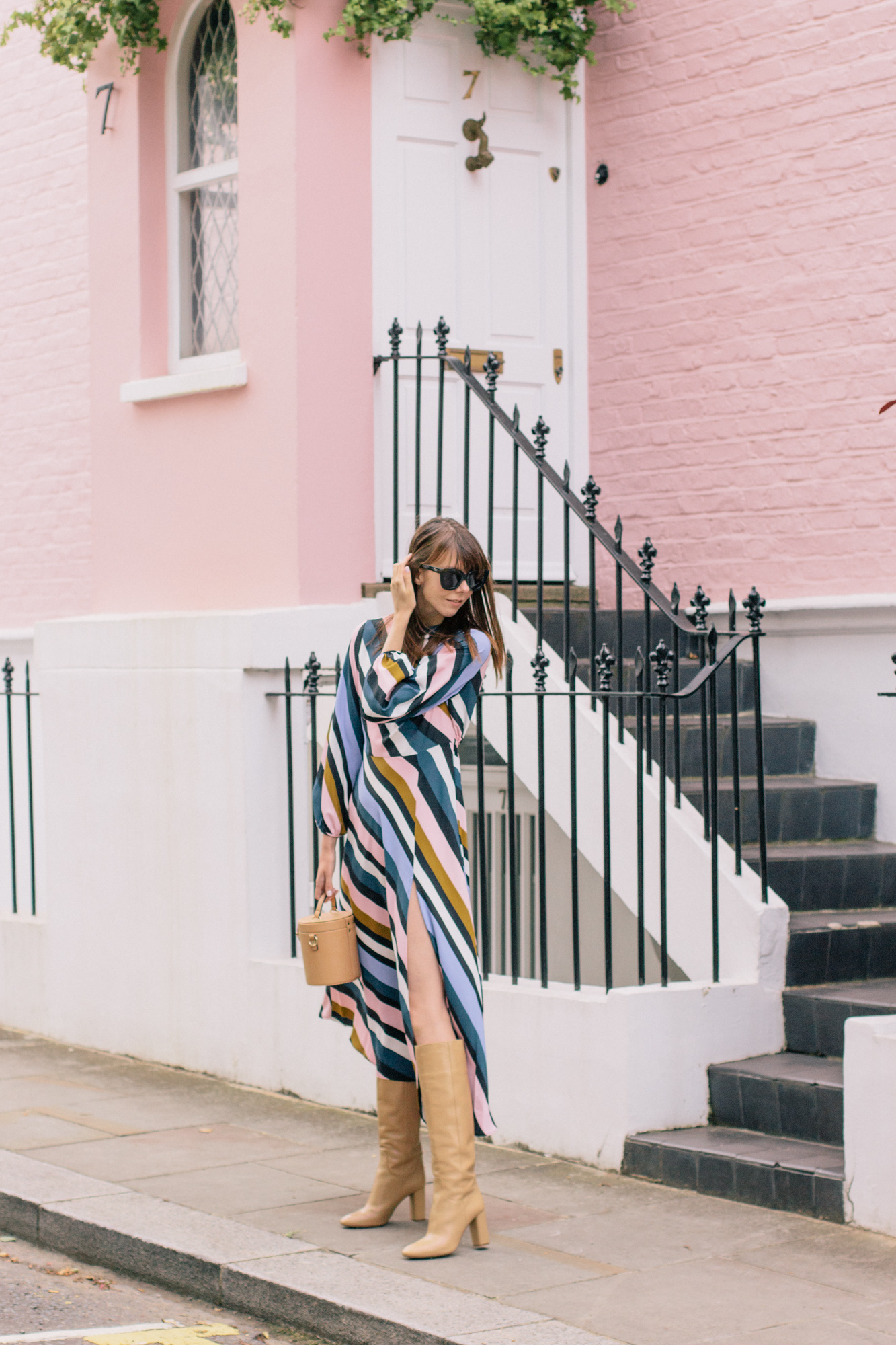 Striped Topshop Dress Pink House Notting Hill Gate-45.jpg