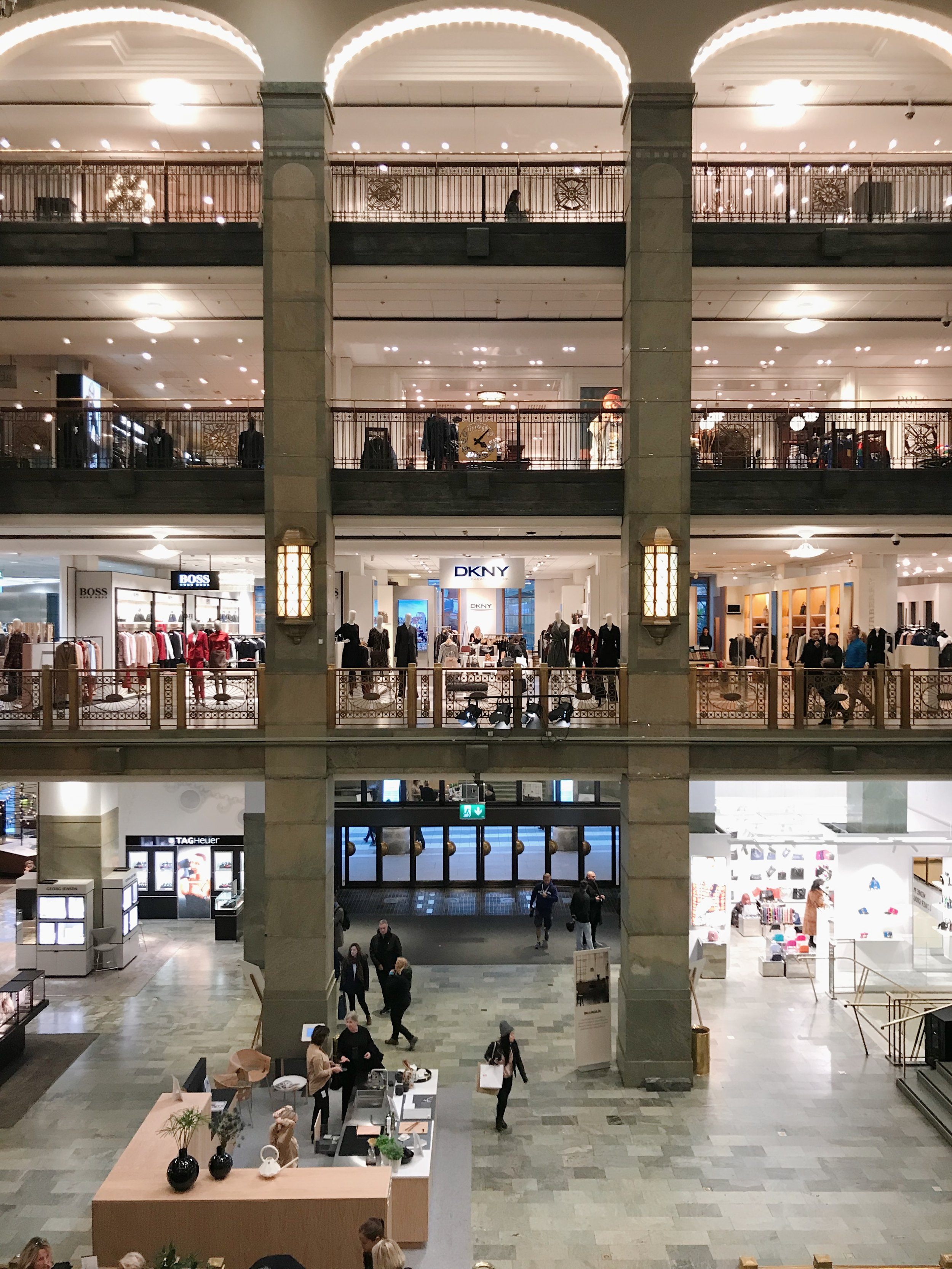 NK Department Store - One of my favorite ways to experience a new country or city is through their fashion. And what better place to do so than a grand department store? This one has a beautiful atrium in the center that's just begging for a picture. Go up a couple of floors for the best vantage point. And if you're a fan of Ganni like I am, they've got a huge selection here.