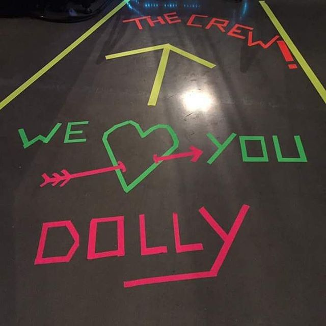 Walk this way..... #dollyparton #dollywood #path #neon  #ducttape #craftyfingers #country #legend #jolene #catering #helsbells  #daughtersofthemill