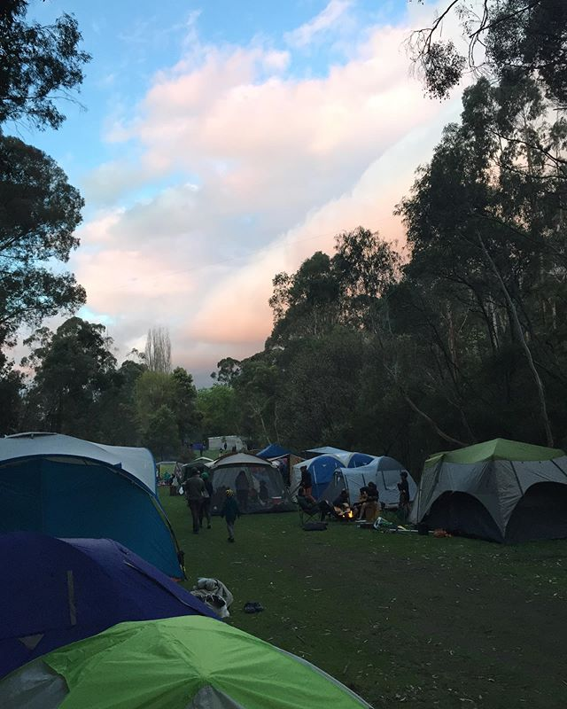 At a music camp on the weekend, we camped for the first time (I know 😅)! A woman camping near us came over and said hi, and over the three days she and I had some great conversations by the smoky fire. We talked about astrology (she's a cancerian with an aries ascendant and scorpio moon) and angels and writing, but something she told me resonated with me even more than this: the oldest child is expected to be and rewarded for being responsible. I don't resent responsibility at all, but we all know sometimes it can be a bit of a burden. She told me about how she has let go of unnecessary seriousness and about the joys of being consciously crazy... It was great. Maybe something I'll try and implement - releasing old seriousness for the sake of being a bit lighter sounds like a good thing to me. I also made friends with some kids camping directly next to us, and we played music and ate chips together. There is so much value in community and the new friendship of strangers. Hearing kookaburras in the early morning is pretty nice, too.
