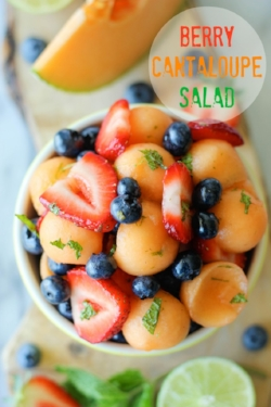 Photo Credit: http://damndelicious.net/2013/08/19/berry-cantaloupe-salad/