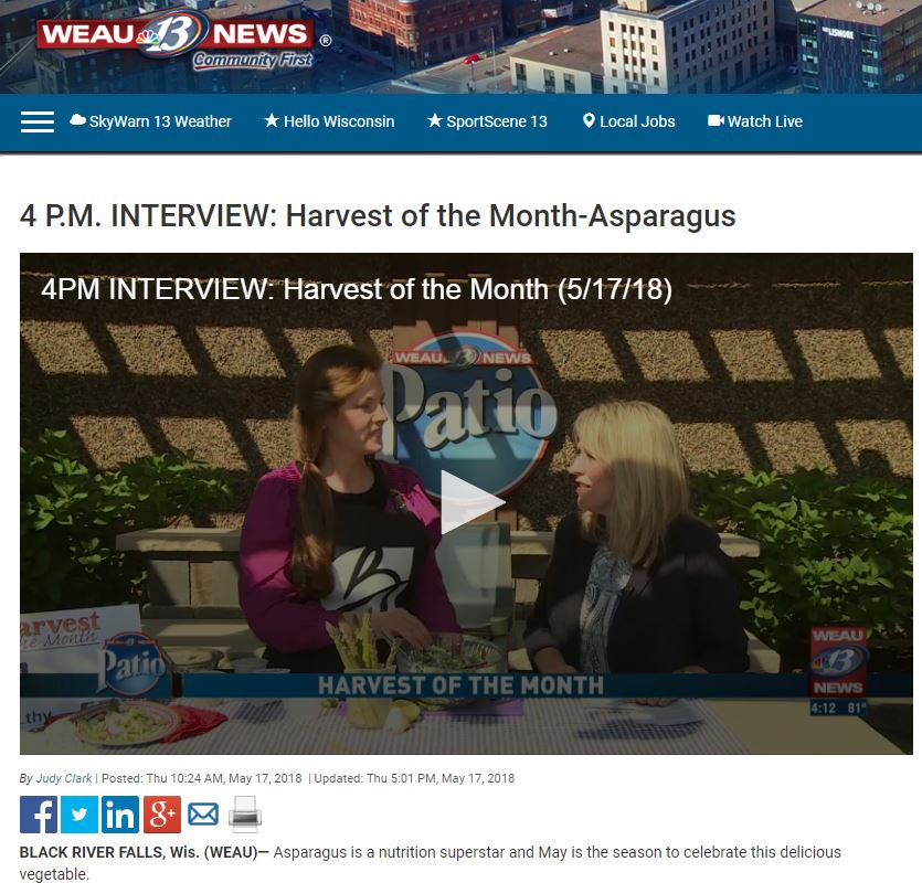 Screen Shot from WEAU Online Harvest of Month Asparagus.JPG