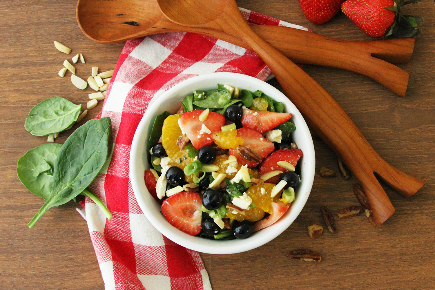 Strawberry Spinach Salad  Photo: Barb Brower