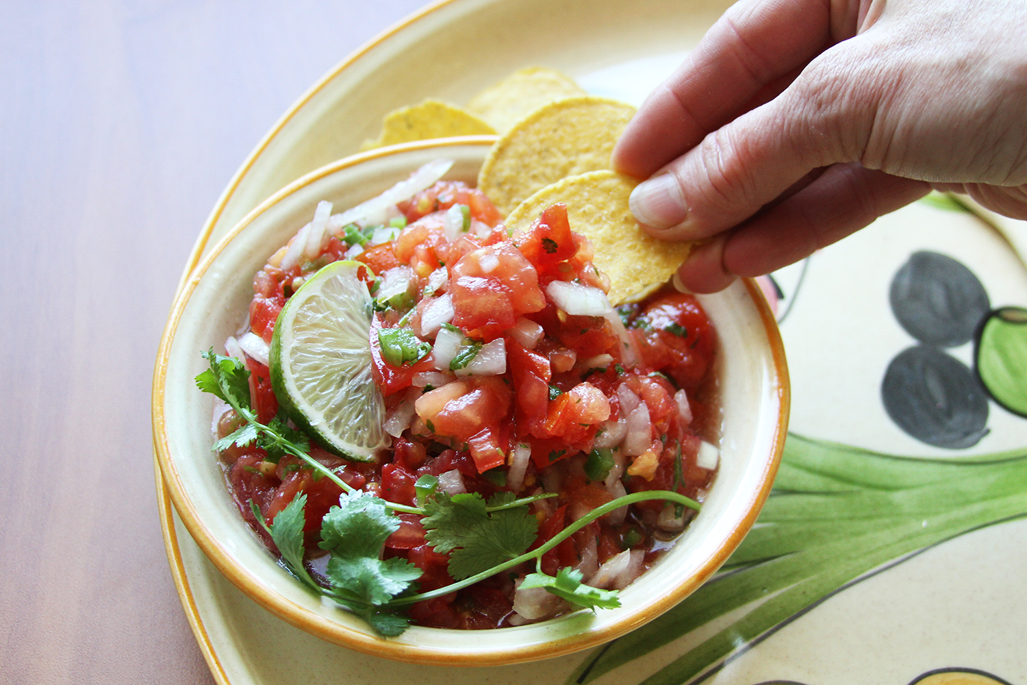 Tomato Lime Salsa  Photo: Katie Schmidt Recipe/Food Styling: Ruth Chipps
