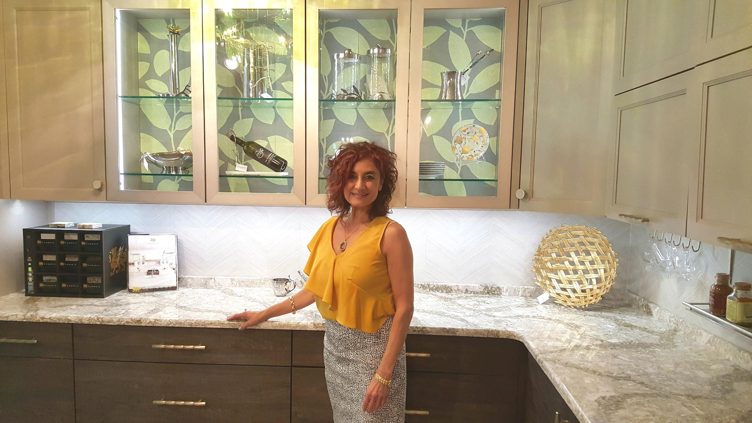 Owner Ellena Rose Gotto displays Mix of Metal Element doors, horizontal rustic grain, and a bit of pattern whimsy!