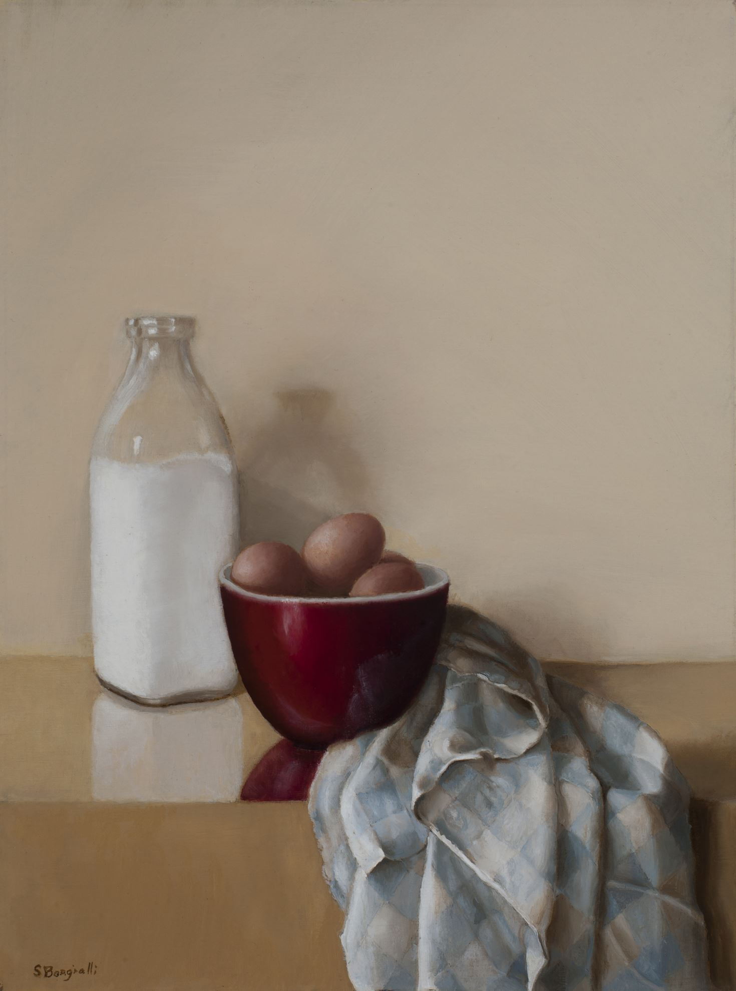 RED BOWL, 12 X 16