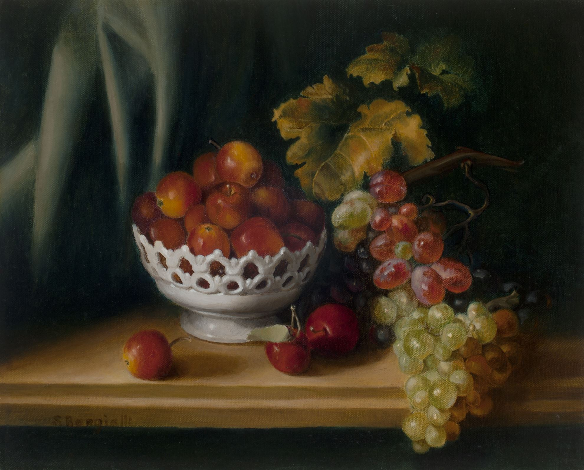 CRABAPPLES AND GRAPES, 10 X 14