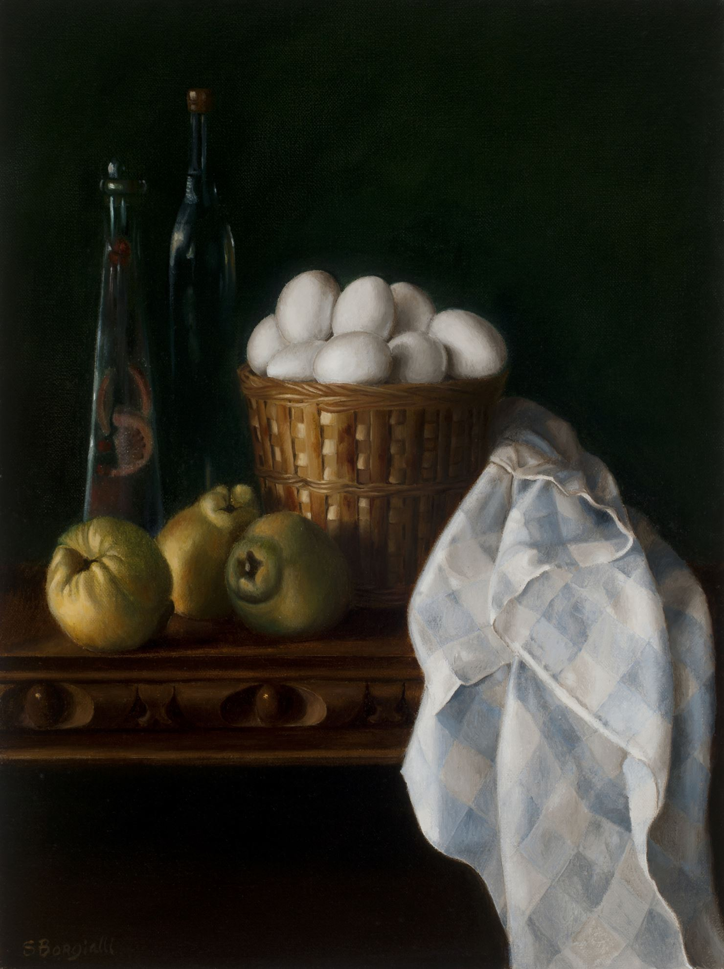 EGGS AND QUINCE, 20 X 24