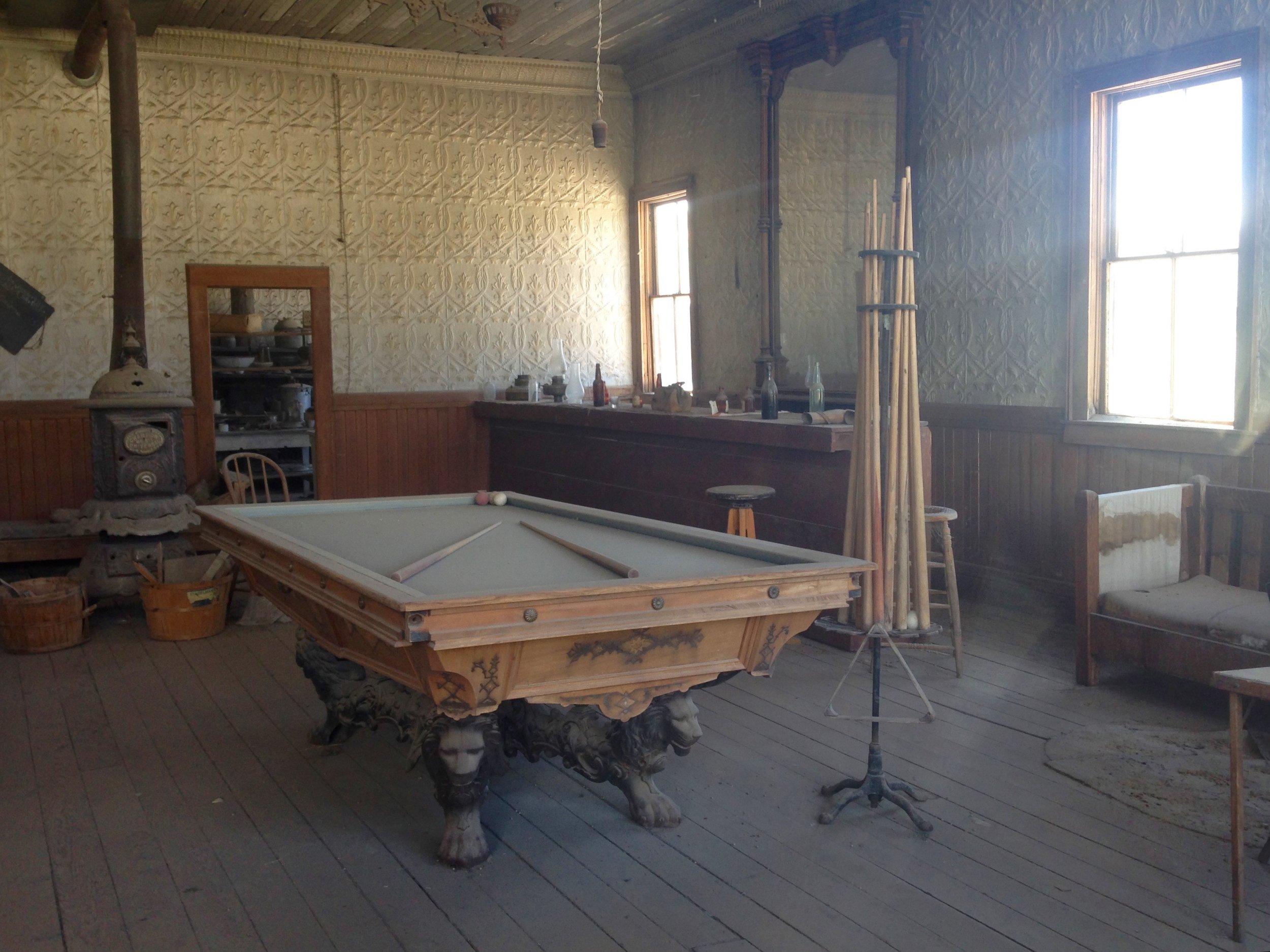 Pool Table at the Wheaton & Hollis Hotel