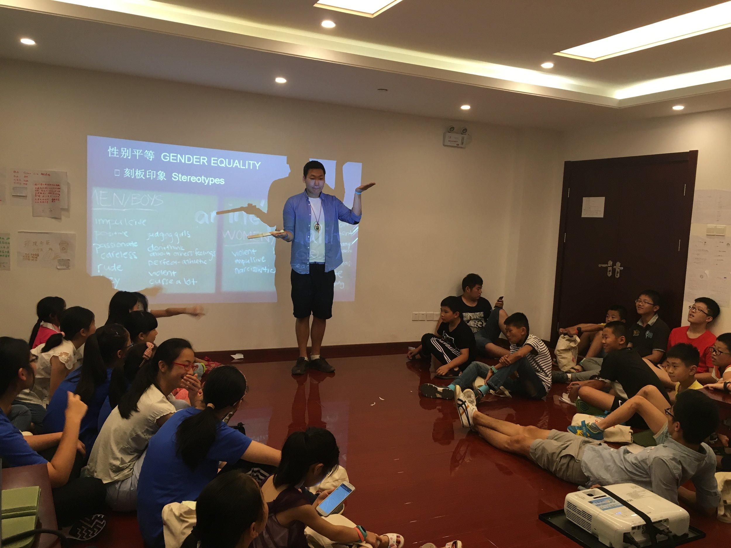 Teacher Black Bear (Nathan from Jane Goodall Institute in HK)