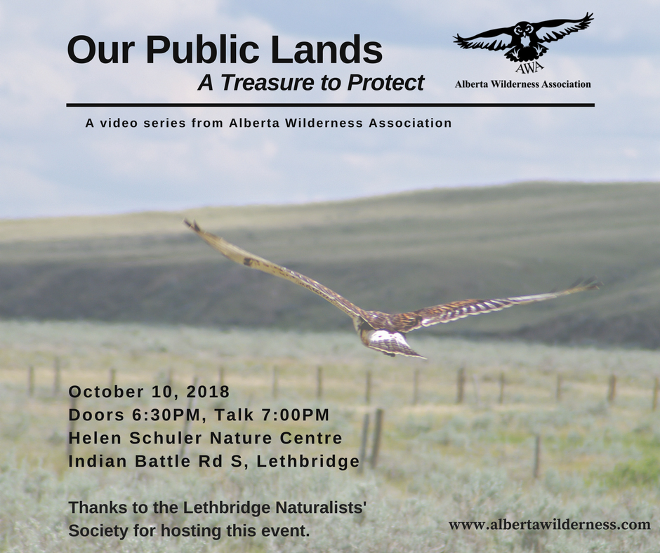 Our Public Lands - October 10 2018 event poster