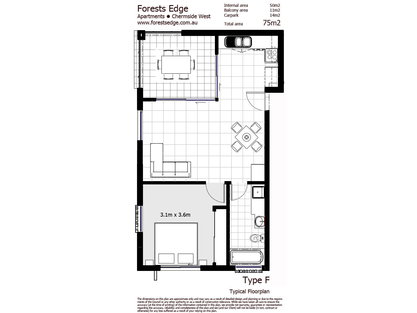 Type F Floorplan - One Bedroom Unit copy.jpg