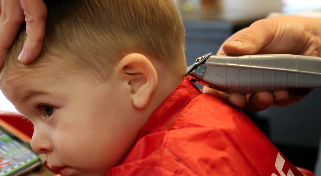 Save the Back For Last- On a boys haircut edging around the ears and the neck area can be the   most uncomfortable and sensitive part of a haircut. Saving it until the   end delays any discomfort the child may feel.