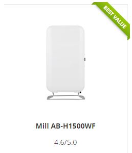Mill Oil Premium WiFi awarded best value of all smart heaters by 3D INSIDER.