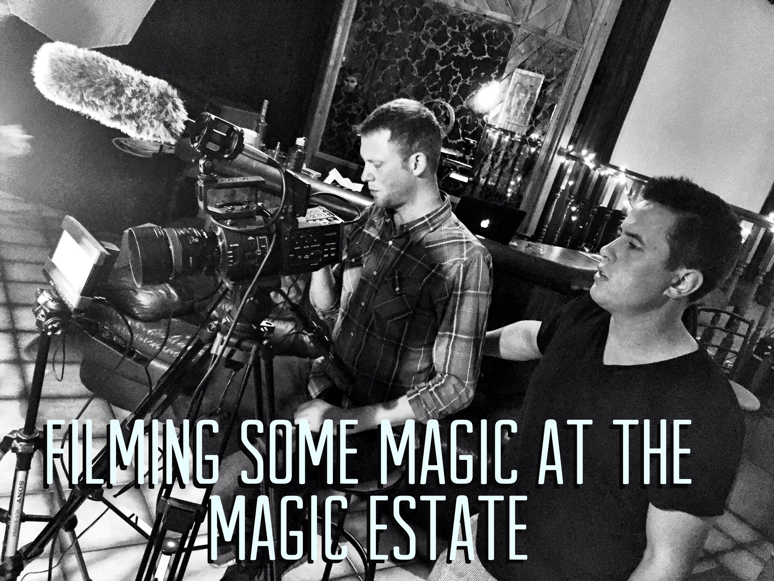 Jeff Kaylor & Aven Pitts filming a dvd project at The Magic Estate - Studio A.