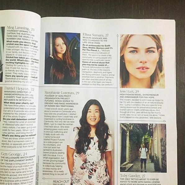 Elissa Sursara in CLEO magazine