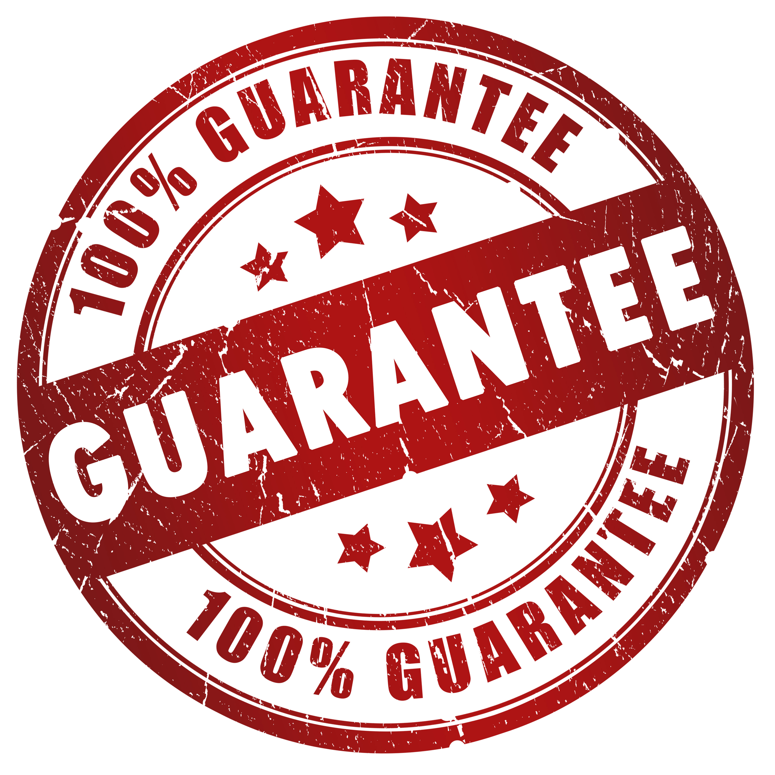 100% Money Back Guarantee, see below for full details.