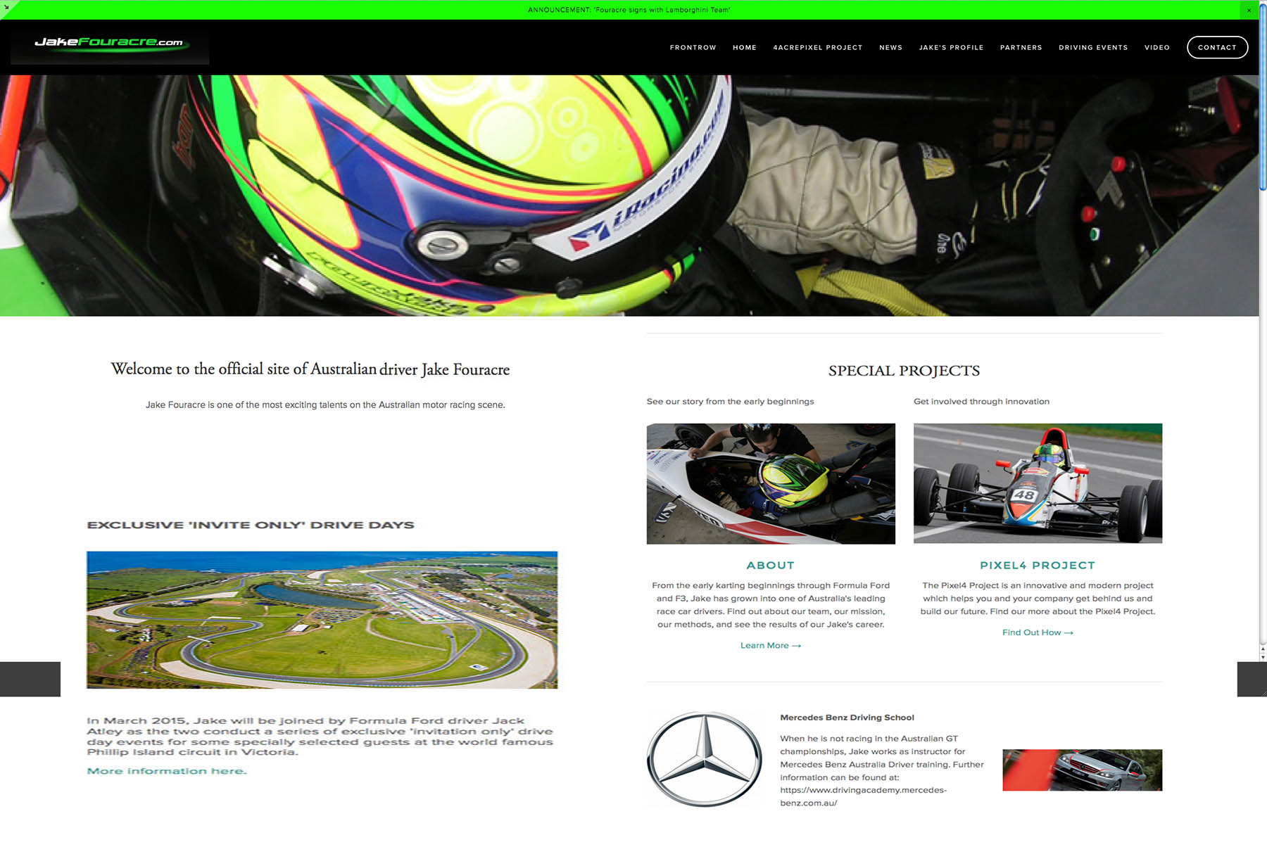 website of Australian GT Mercedes driver JAKE FOURACRE is designed, installed and updated by PLM