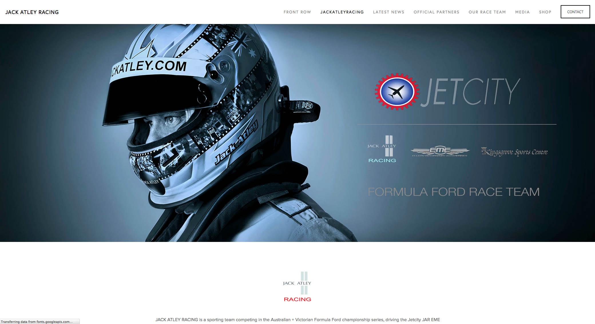 website of JACK ATLEY RACING by PLM