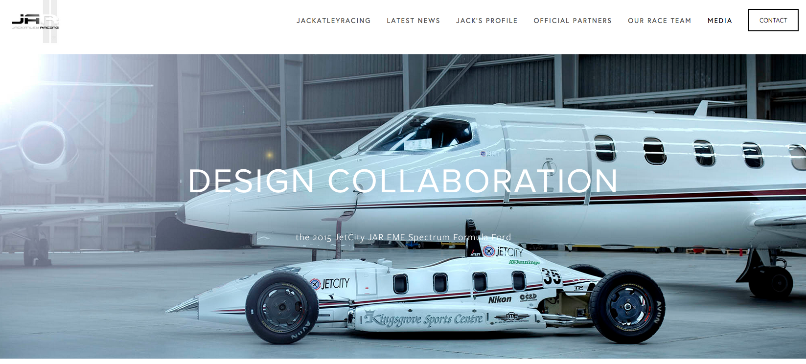the website of driver Jack Atley was professionally photographed, designed, installed and updated by PLM