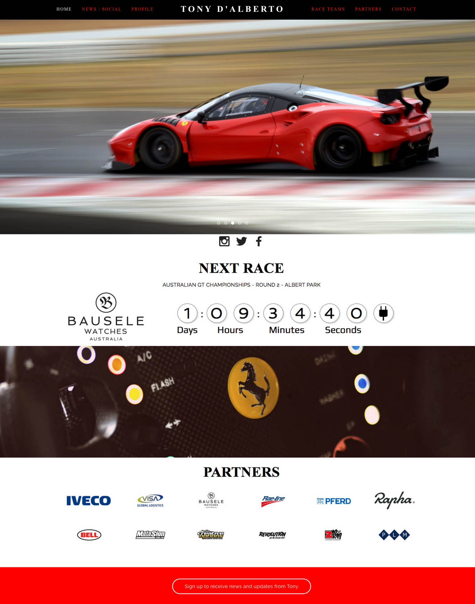 website of V8 Supercar DJR Team Penske and Ferrari GT driver TONY D'ALBERTO is designed, installed and updated by PLM