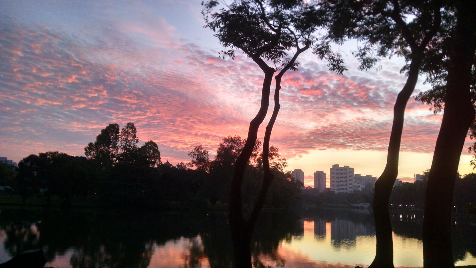Sunrise by the Chinese Garden, Singapore