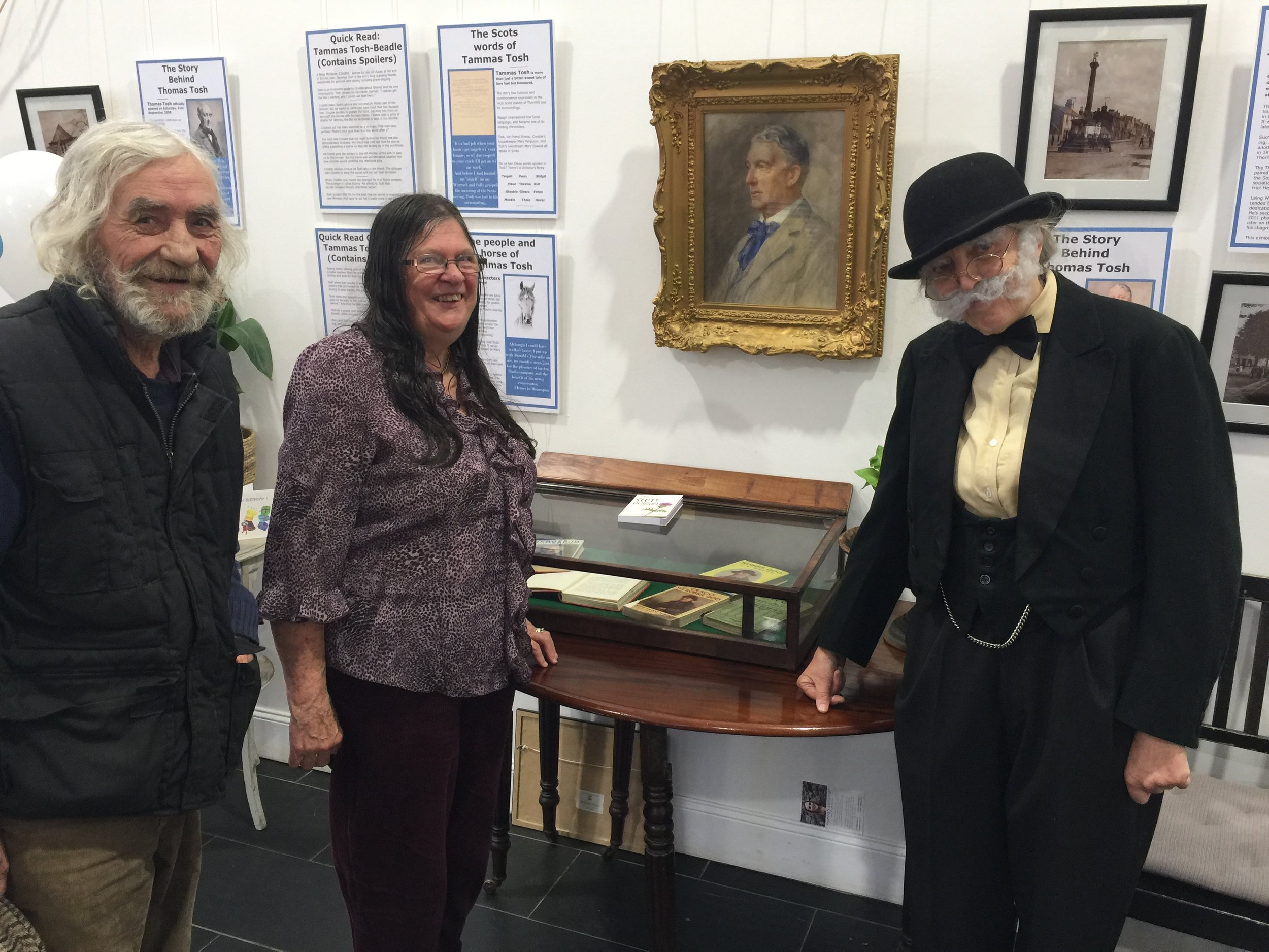 Dave & Gladys Cuttle, with Tammas Tosh (Denise Zygadlo) at the launch of the Joseph Laing Waugh exhibition.jpg