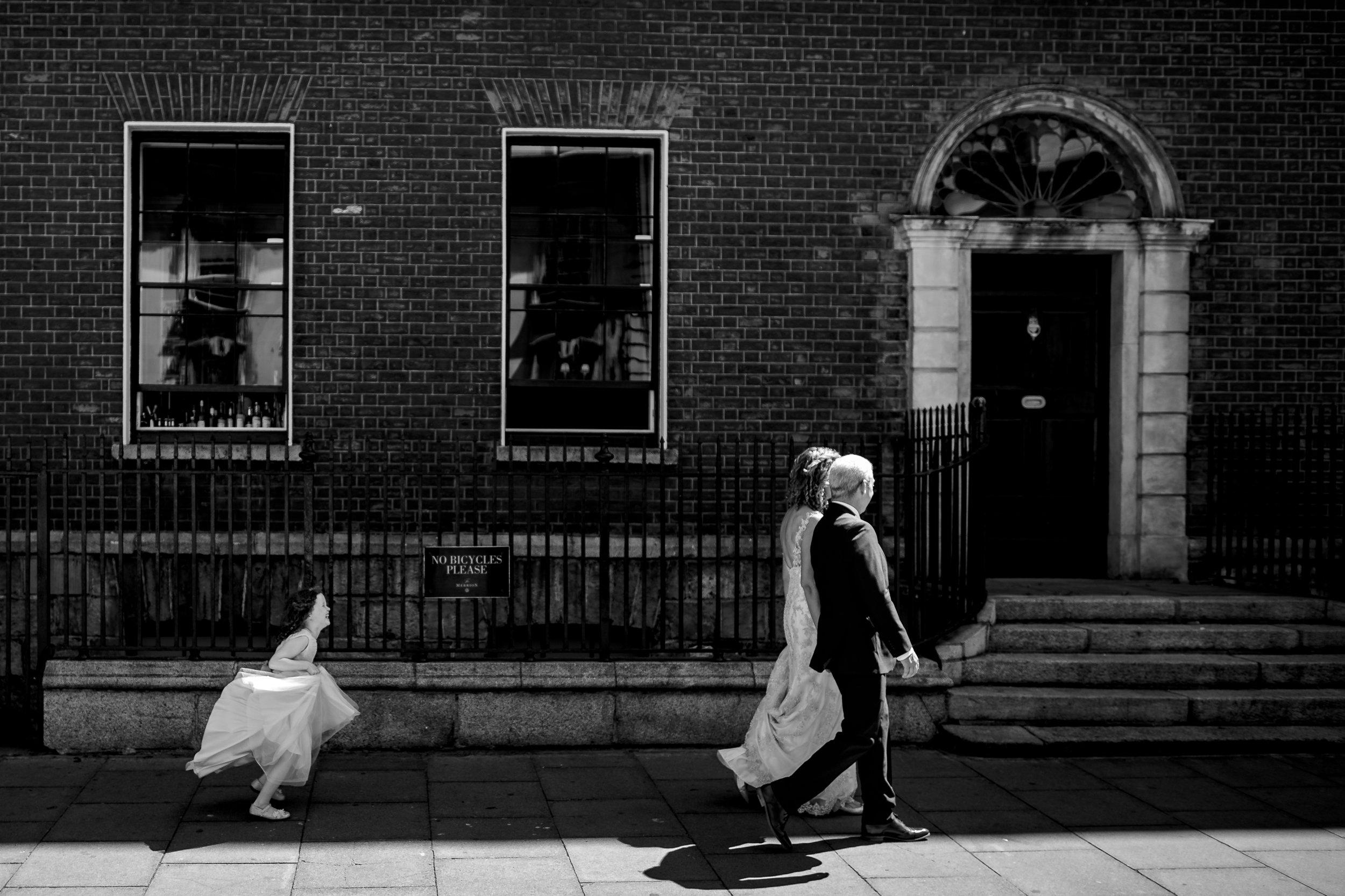 Merrion Hotel Street photographer wedding