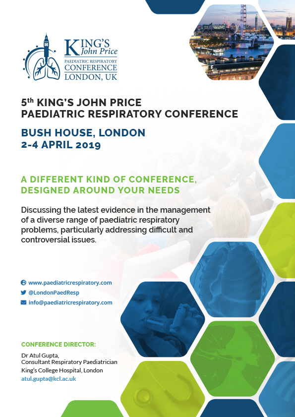 5th Paediatric Respiratory Conference - 4 Page brochure